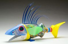 Plastic+Bottle+Art+Artists | You see an empty bottle. David Edgar sees a fish. | Artistic Things
