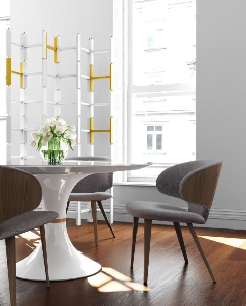 Modloft Waterloo Dining Table Harper Dining Chair The