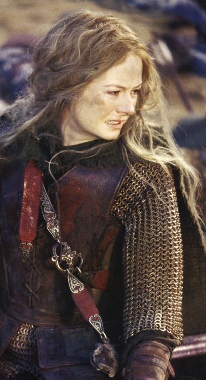 More Miranda Otto as Eowyn. They did a great job with her even though - does it matter? - she is supposedly wearing men's armor.
