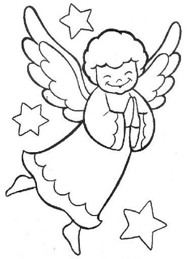 Dibujos De Angeles De Navidad Para Pintar.Dibujos Y Plantillas Para Imprimir Angelitos Angeles