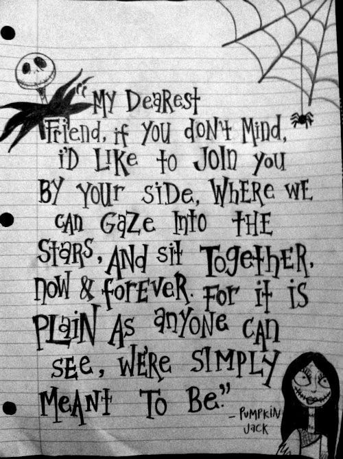 "Make this quote into art for the bedroom. Nightmare Before Christmas: ""My…"