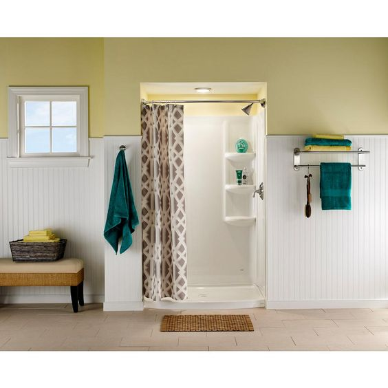 American Standard Ovation 30 In X 48 In 3 Piece Direct To Stud Shower Wall In Arctic White 2603 Sw 011 Shower Wall Kits Corner Shower Enclosures Small Bathroom With Shower