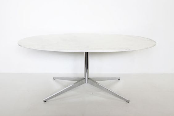 florence knoll calacatta marble table  http://www.galerie44.com/fr/collection/mobilier/table-florence-knoll-detail