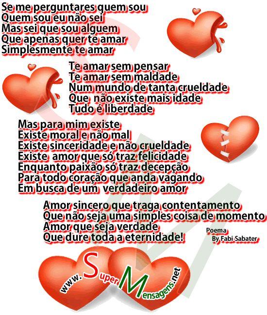 Recados para Orkut de Poemas de Amor