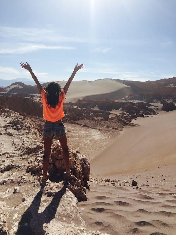 Feeling free! Climbing sand dunes in San Pedro #chile