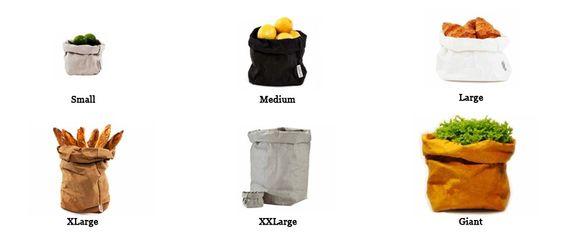 Bolsa de papel lavable Paper Bag de Uashmama para utilizarla como maceta, frutero, bolso, etc. #paperBag #Uashmama #BolsaDePapel #maceta #macetero #frutero #bolso #almacenaje #decoration