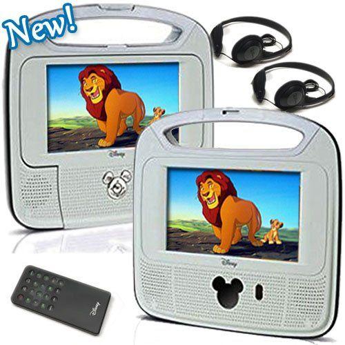 "Disney 7""inch Dual Screen Widescreen LCD Mobile DVD Playe..."