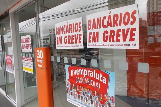 Bancários entram em greve por tempo indeterminado   #Bancários, #Banco, #ElainePatriciaCruz, #Greve