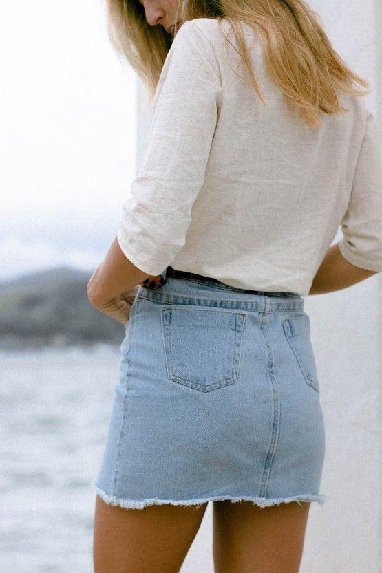 Saia Jeans Curtinha Clara