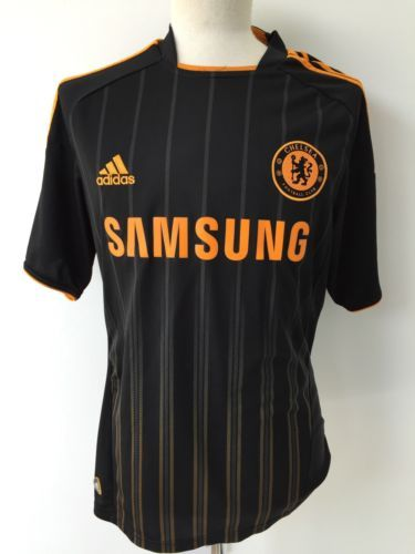 Chelsea fc #2010/11 adidas away shirt jersey size #medium black #orange,  View more on the LINK: 	http://www.zeppy.io/product/gb/2/391469702376/