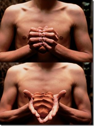 My Hands Are My Heart. 1991 by Gabriel Orozco from the Mobile Matrix Installation at the MoMA