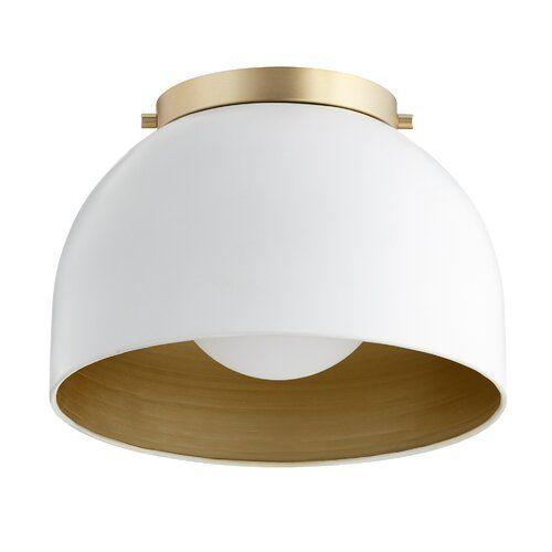 Brie 1 Light Single Dome Pendant Ceiling Lights Hallway Light Fixtures Semi Flush Ceiling Lights