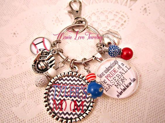 Hey, I found this really awesome Etsy listing at https://www.etsy.com/listing/195684894/baseball-mom-key-chain-baseball-mom