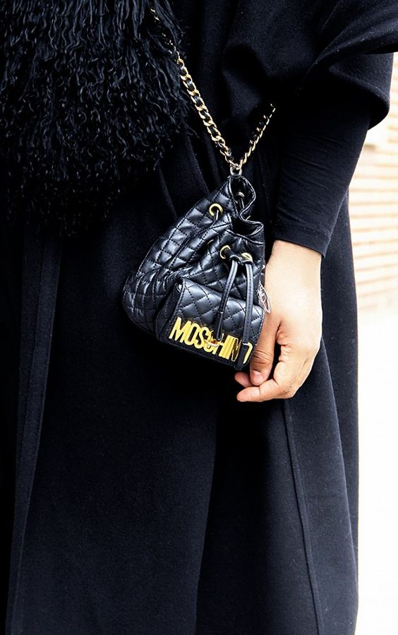 A cute black Moschino bag: