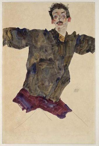 Tulln 1890 - 1918 Wien Titel- Selbstbildnis mit ausgebreiteten Armen. Albertina, Wien by renzodionigi, via Flickr