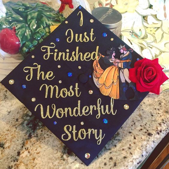 My graduation cap for my Master's degree graduation @ CSUF :)  Beauty and the Beast