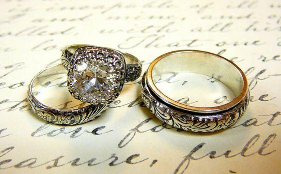 Vintage Sterling Silver Swarovski Crystal by EternalElementsShop