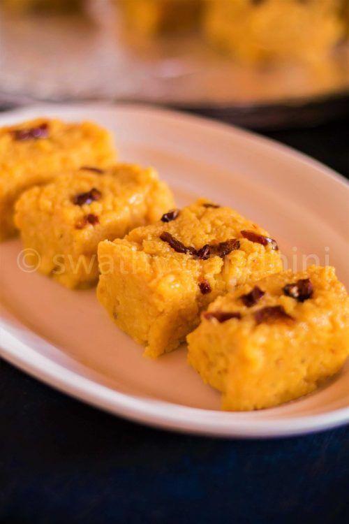 Mango Kalakand Mango Burfi Recipe In 2020 Mango Recipes Burfi Recipe Recipes