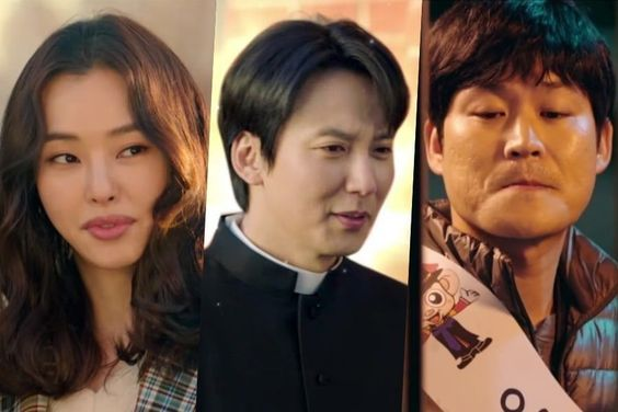 "Watch: Kim Nam Gil, Kim Sung Kyun, And Honey Lee Take Quirkiness To The Next Level In ""The Fiery Priest"" Teasers"