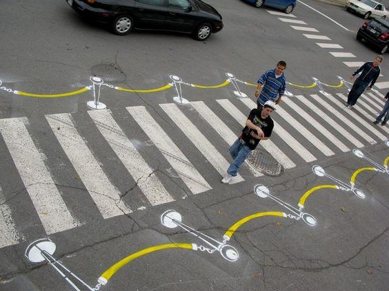 VIP crosswalk by Roadsworth