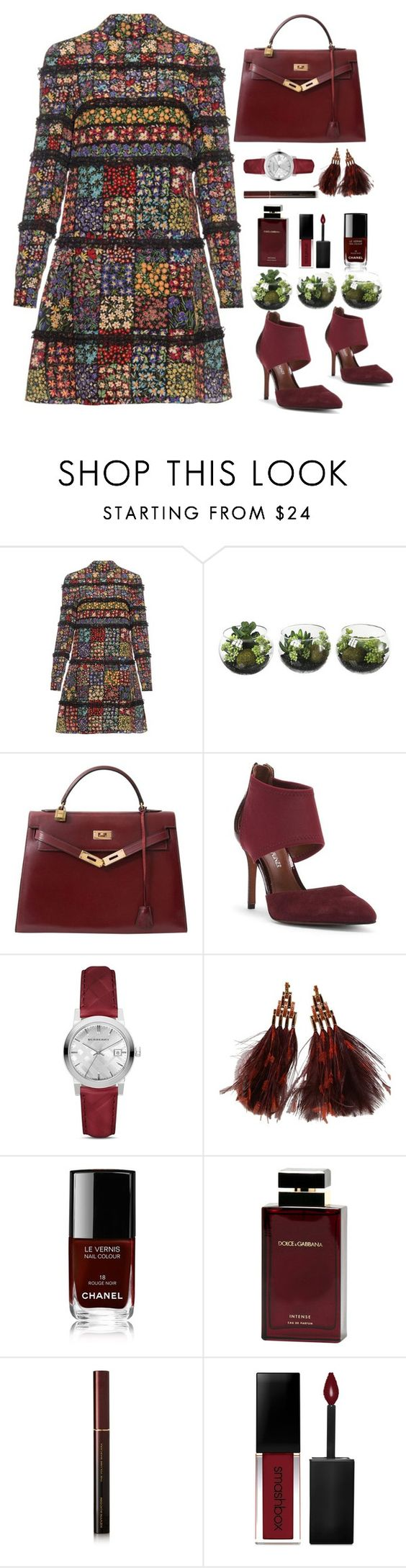 """Untitled #450"" by jovana-p-com ❤ liked on Polyvore featuring Valentino, Hermès, Donald J Pliner, Burberry, Louis Vuitton, Chanel, Dolce&Gabbana, Kevyn Aucoin and Smashbox"