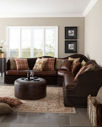 """""""Macey"""" Sectional Sofa by Key City Furniture at Horchow."""