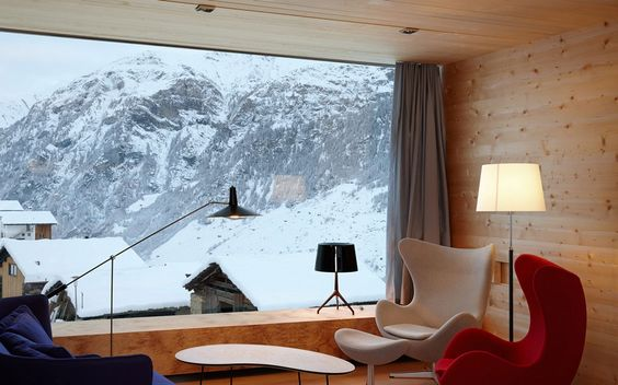 Living Space, Large Window, Mountain Views, Zumthor Vacation Homes in Leis, Switzerland
