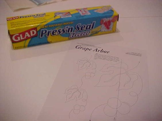 1. Marking Quilting Designs with Glad Press & Seal FREEZER paper. Quilts -Techniques ...