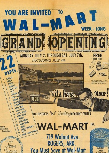 ( click, via WWD ) This is where the Evil began, in 1962. Even atrocious design sense couldn't stop evil Sam Walton. Related : Five peeks in...