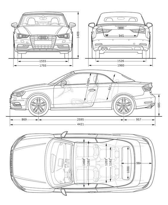 audi a3 cabriolet dimensions blueprint sketch pinterest audi a3 cabriolet audi a3 and audi. Black Bedroom Furniture Sets. Home Design Ideas