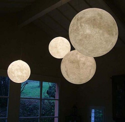 now THIS would be a cool light in a home...MOON globe light! | For ...