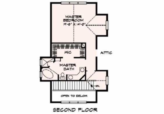 Cottage Style House Plan - 3 Beds 3 Baths 2398 Sq/Ft Plan #140-130 Floor Plan - Upper Floor Plan - Houseplans.com