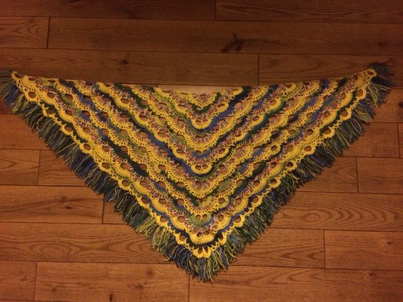 Crochet Pattern For The Virus Shawl : Shawl on Pinterest