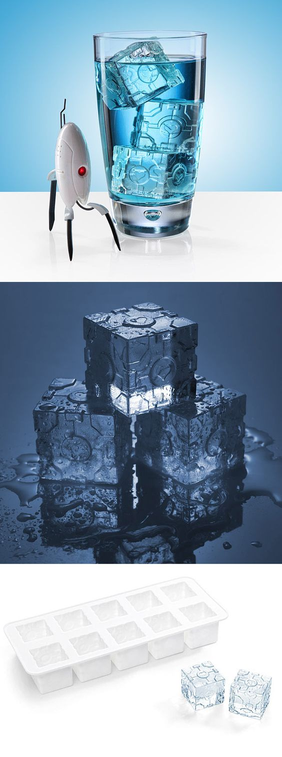 Portal 2 Companion Cube Ice Tray -- and of course it's from one of my favorite geek shopping sites!  http://www.thinkgeek.com/product/f036/