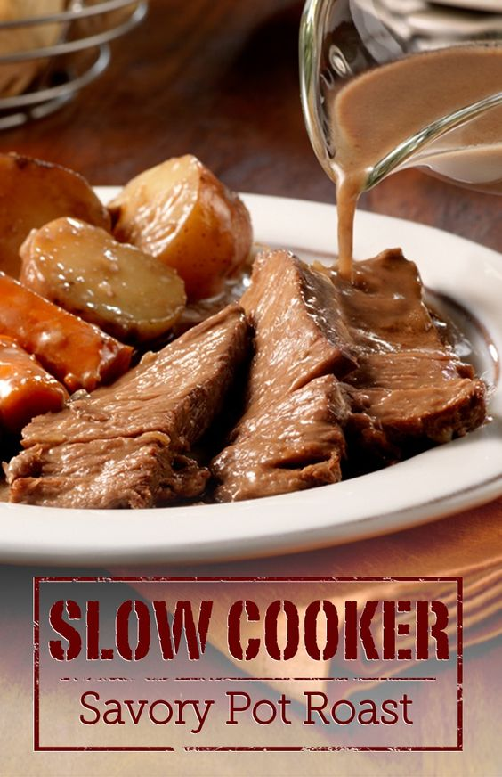 Prep this easy recipe for 10 minutes in the morning and come home to a deliciously simmered Slow Cooker Savory Pot Roast dinner!