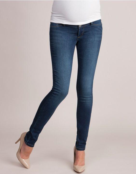 Over Bump Slim Leg Maternity Jeans front