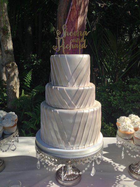 Fondant Pleat Wedding Cake Frost It Cupcakery Wedding Cake Hartley Botanica Wedding Cake