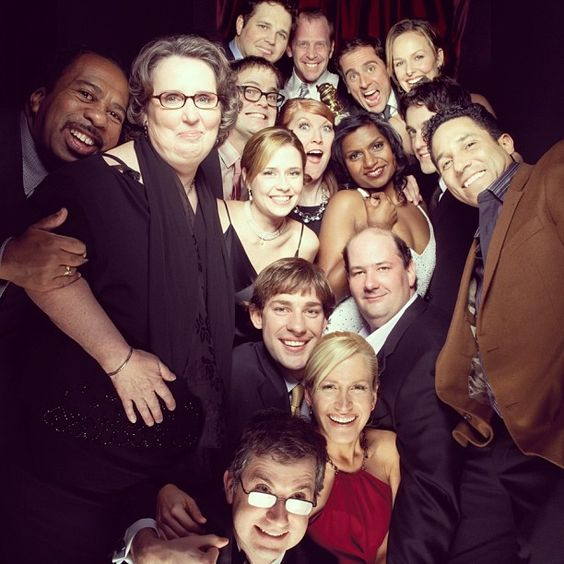 Best.Photo.Ever: The Office cast after Steve Carell won his Golden Globe in 2006