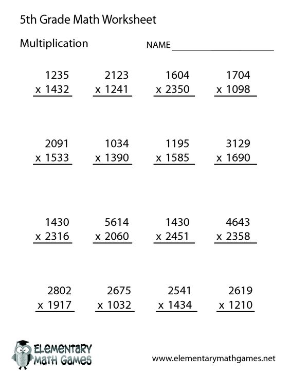 Free Math Worksheets for 5th Grade – Free Math Worksheets for 5th Grade