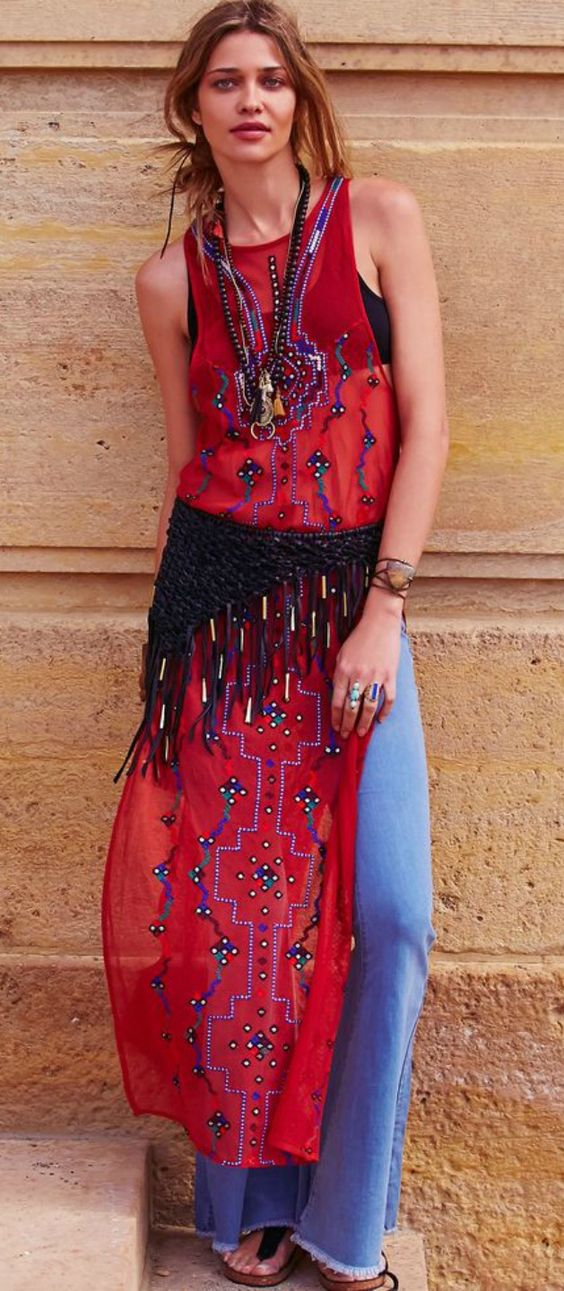 MAXI TANK TOP. <3 Love, love love this top. It features beautiful embroidery and sequin detailing. Gorgeous!