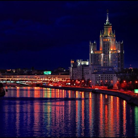 "@annakur's photo: ""Night Moscow"""