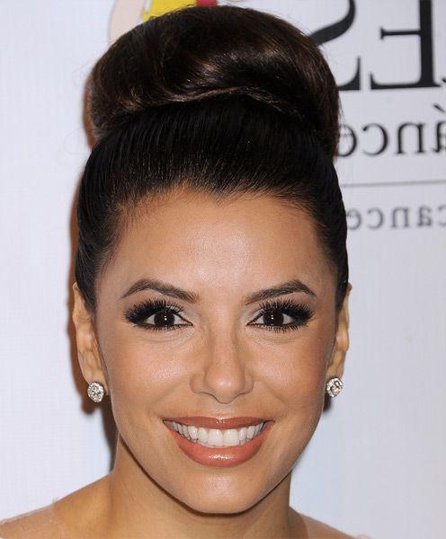 Strange Eva Longoria Celebrity Hairstyles And Cool Bun On Pinterest Hairstyles For Men Maxibearus