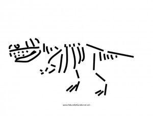 Dinosaur pasta skeleton preschool red pasta and super easy for Printable dinosaur skeleton template
