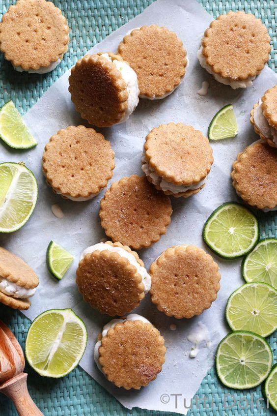 Key Lime Pie Ice Cream Sandwiches  - Delish.com