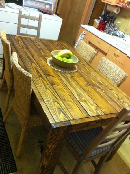 Modern farmhouse table Ana White Junk Pinterest