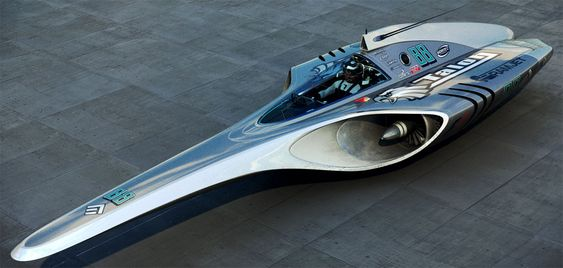 Maglev F1 Racer concept by Thomas Morgan