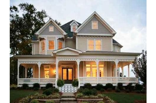 Beautiful modern victorian and wraps on pinterest for Beach house designs with wrap around porch