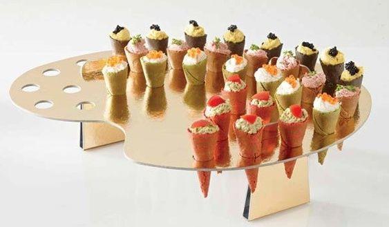 Surtido mini conos de sabores para fiesta   MiniHamburguesas.com La tienda de los panes de colores