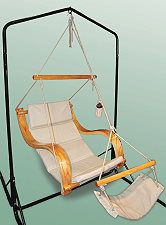 The Deluxe Cushioned Lounger Air Chair
