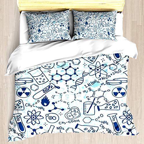 Chemistry Duvet Cover Set Soft Comforter Cover Pillowcase Bed Set Unique Printed Floral Pattern Design Duvet Covers Blanket Cover Quee Blanket Bed Comforters
